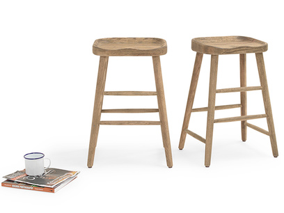 Hand crafted wooden kitchen stools