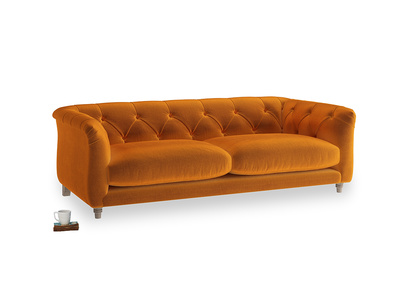 Medium Boho Sofa in Spiced Orange clever velvet