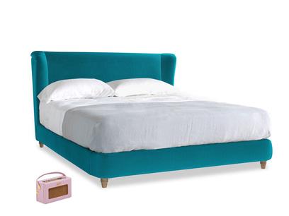 Superking Hugger Bed in Pacific Clever Velvet