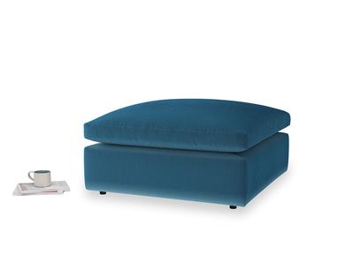 Cuddlemuffin Footstool in Twilight blue Clever Deep Velvet