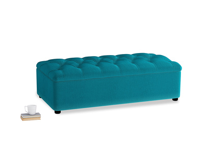 Double Bed In A Button in Pacific Clever Velvet