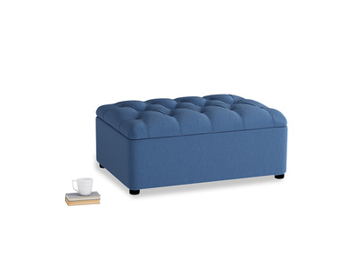 Single Bed In A Button in English blue Brushed Cotton
