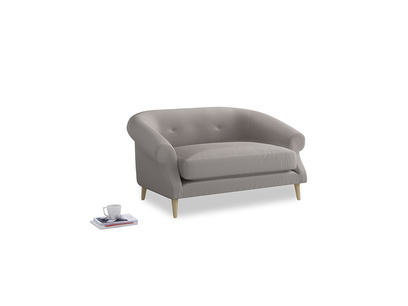 Schnaps Love Seat in Mouse grey Clever Deep Velvet