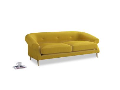 Large Schnaps Sofa in Bumblebee clever velvet