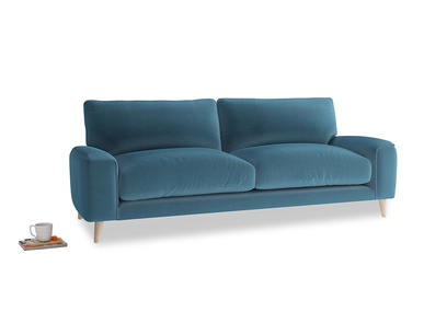 Medium Strudel Sofa in Old blue Clever Deep Velvet