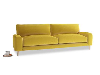 Large Strudel Sofa in Bumblebee clever velvet