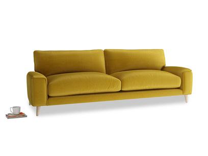 Large Strudel Sofa in Burnt yellow vintage velvet