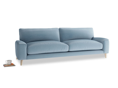 Large Strudel Sofa in Chalky blue vintage velvet
