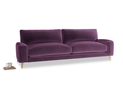 Large Strudel Sofa in Grape clever velvet