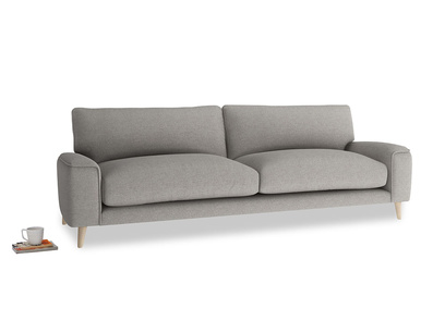 Large Strudel Sofa in Marl grey clever woolly fabric