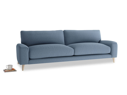 Large Strudel Sofa in Nordic blue brushed cotton