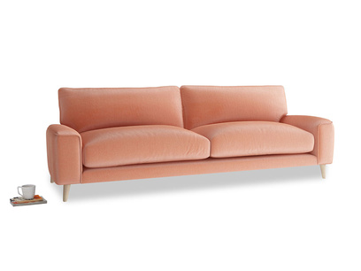 Large Strudel Sofa in Old Rose Vintage Velvet