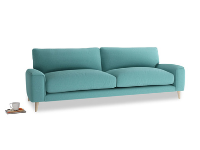 Large Strudel Sofa in Peacock brushed cotton