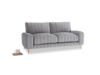 Small Strudel Sofa in Brittany Blue french stripe