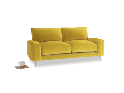 Small Strudel Sofa in Bumblebee clever velvet
