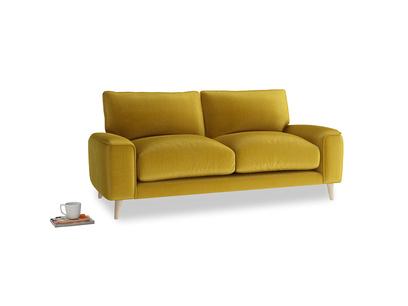 Small Strudel Sofa in Burnt yellow vintage velvet