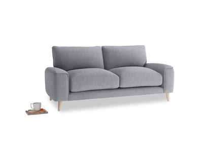 Small Strudel Sofa in Dove grey wool