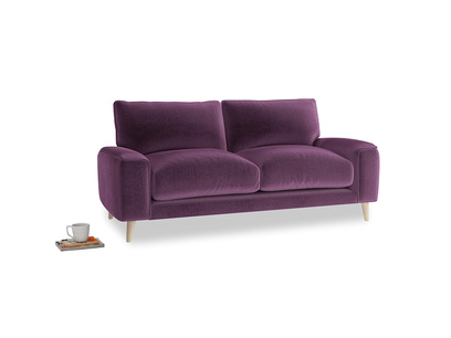Small Strudel Sofa in Grape clever velvet