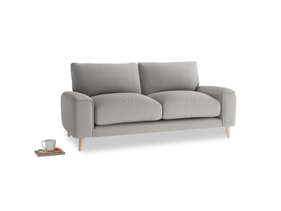 Small Strudel Sofa in Wolf brushed cotton