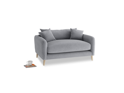 Squishmeister Love Seat in Dove grey wool