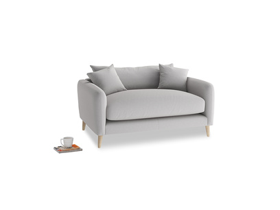 Squishmeister Love Seat in Flint brushed cotton