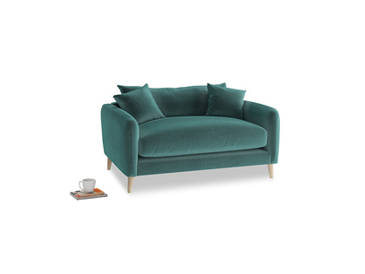 Squishmeister Love Seat in Real Teal clever velvet