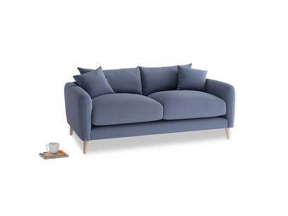 Small Squishmeister Sofa in Breton blue clever cotton