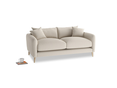 Small Squishmeister Sofa in Buff brushed cotton