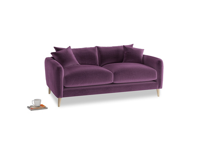 Small Squishmeister Sofa in Grape clever velvet