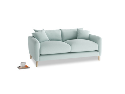 Small Squishmeister Sofa in Gull's Egg Brushed Cotton