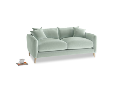 Small Squishmeister Sofa in Mint clever velvet