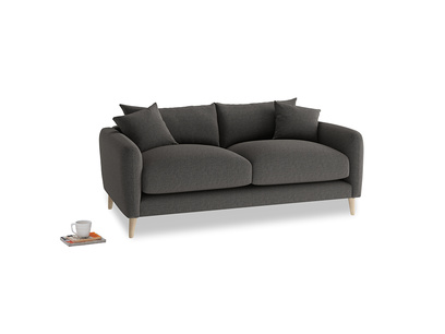 Small Squishmeister Sofa in Old Charcoal brushed cotton