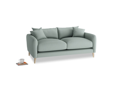 Small Squishmeister Sofa in Sea fog Clever Woolly Fabric