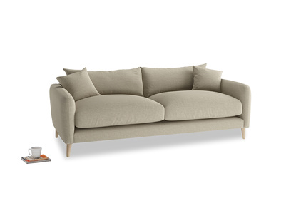 Medium Squishmeister Sofa in Jute vintage linen