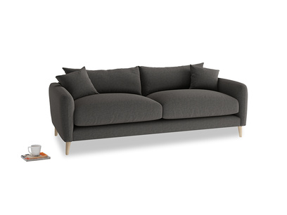 Medium Squishmeister Sofa in Old Charcoal brushed cotton