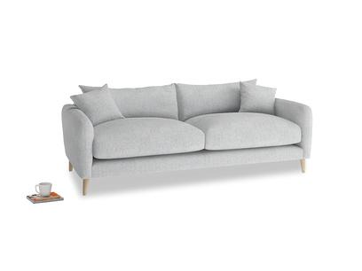 Medium Squishmeister Sofa in Pebble vintage linen
