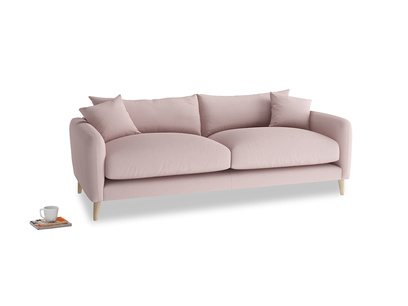 Medium Squishmeister Sofa in Potter's pink Clever Linen
