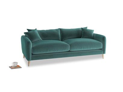 Medium Squishmeister Sofa in Real Teal clever velvet