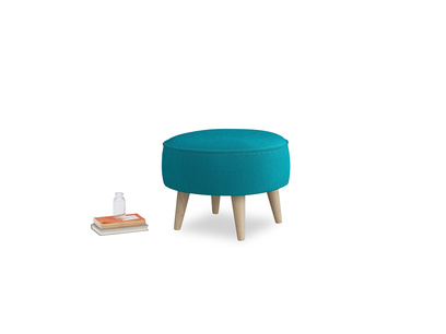 Small round Footdoggle in Pacific Clever Velvet