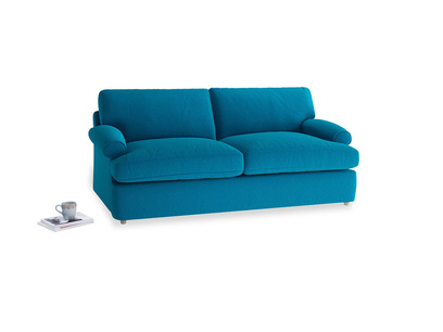 Medium Slowcoach Sofa Bed in Bermuda Brushed Cotton