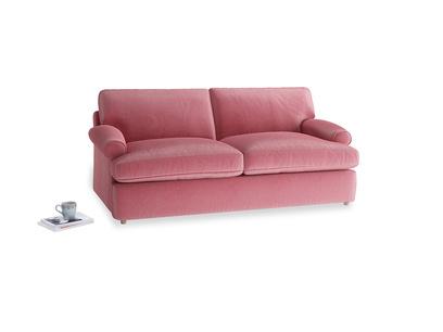 Medium Slowcoach Sofa Bed in Blushed pink vintage velvet