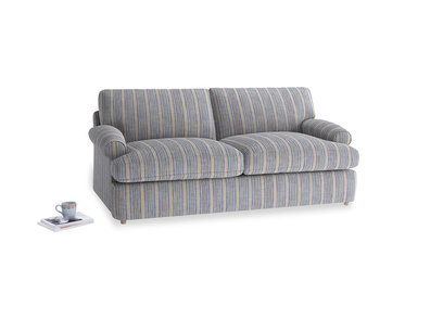 Medium Slowcoach Sofa Bed in Brittany Blue french stripe