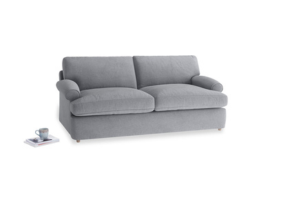 Medium Slowcoach Sofa Bed in Dove grey wool