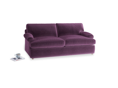 Medium Slowcoach Sofa Bed in Grape clever velvet