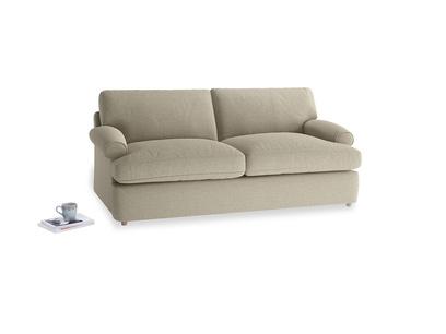 Medium Slowcoach Sofa Bed in Jute vintage linen