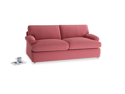 Medium Slowcoach Sofa Bed in Raspberry brushed cotton