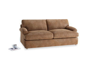 Medium Slowcoach Sofa Bed in Walnut beaten leather