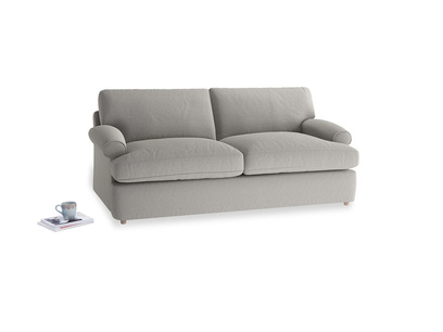 Medium Slowcoach Sofa Bed in Wolf brushed cotton