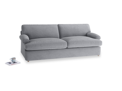 Large Slowcoach Sofa Bed in Dove grey wool