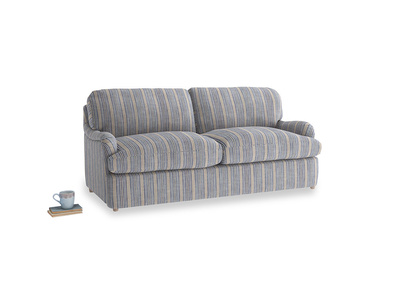 Medium Jonesy Sofa Bed in Brittany Blue french stripe
